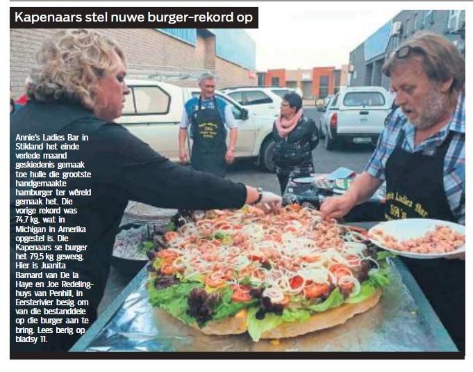 Kaapenaars stel nuwe burger-rekord op