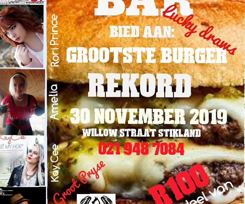 Gootste Burger Rekord – 30November